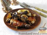 Фото к рецепту: Куриное фрикасе с грибами, по-женевски