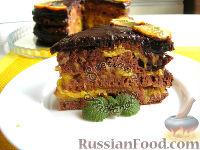 """Фото к рецепту: Торт """"Бразилия"""" с апельсиновым конфи"""