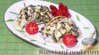 Фото к рецепту: Капуста с грибами (в духовке)