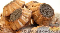 Фото к рецепту: Шоколадные кексы с печеньем