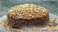 Фото к рецепту: Шоколадно-апельсиновый торт из блинов