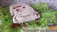 Фото к рецепту: Закусочный рулет из лаваша с тунцом