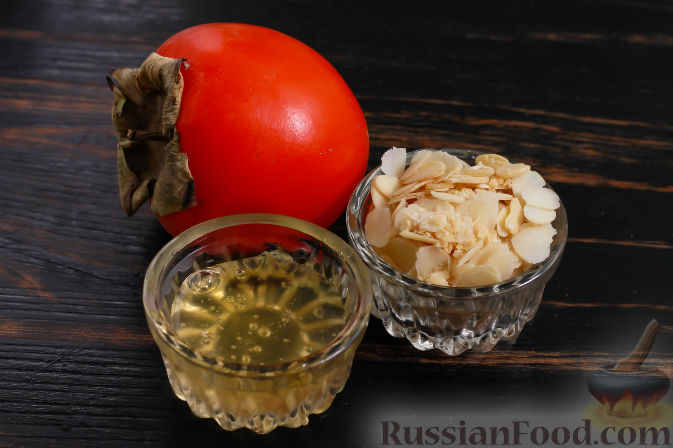Фото приготовления рецепта: Пирожные из хурмы и миндаля - шаг №1