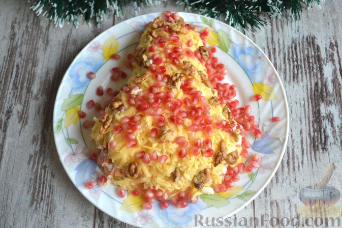 Фото к рецепту: Салат с копченой курицей