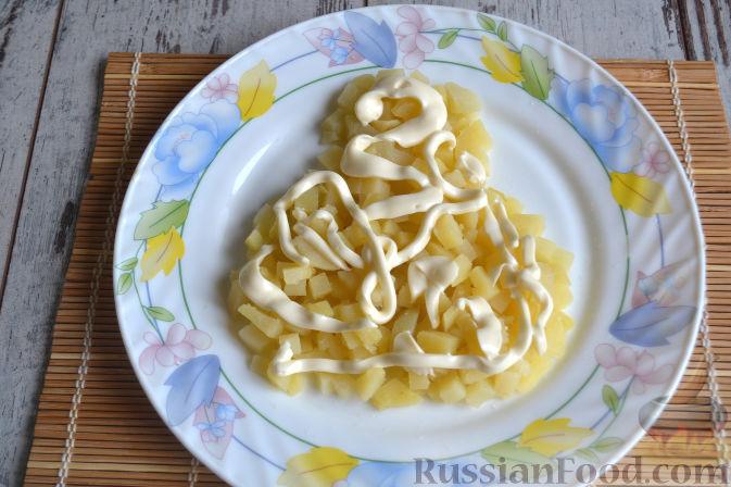 Фото приготовления рецепта: Салат с копченой курицей - шаг №7