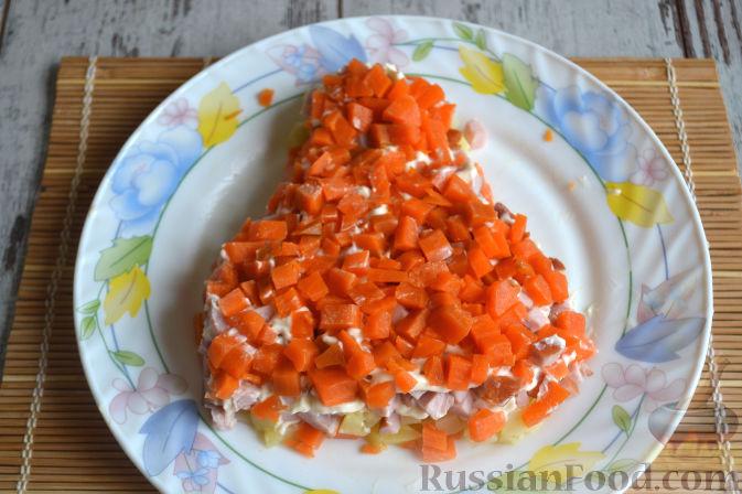 Фото приготовления рецепта: Салат с копченой курицей - шаг №9