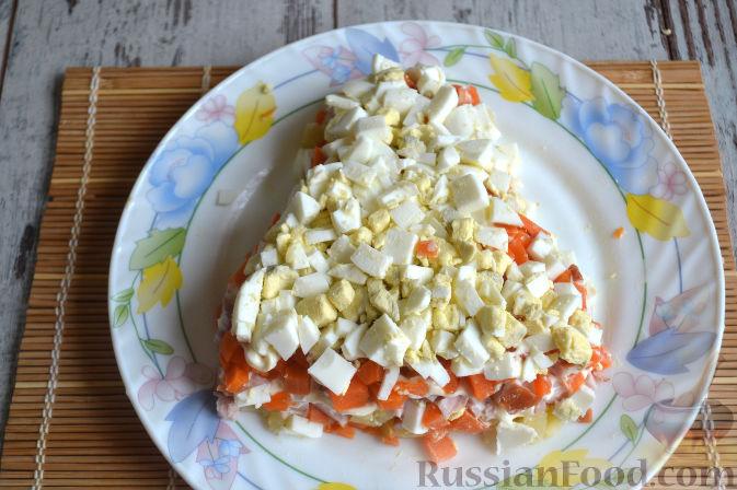 Фото приготовления рецепта: Салат с копченой курицей - шаг №10