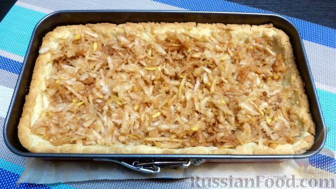 Фото приготовления рецепта: Венгерский пирог с айвой - шаг №10