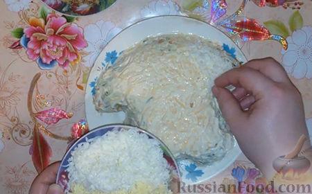 """Фото приготовления рецепта: Праздничный салат """"Собачка"""" - шаг №14"""