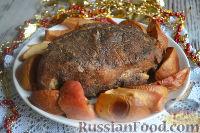 Фото к рецепту: Буженина с яблоками и айвой