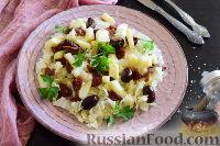 """Фото к рецепту: Салат """"Сичилиана"""" с анчоусами и вялеными томатами"""