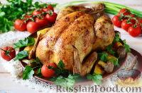 Фото к рецепту: Курица, фаршированная грибами