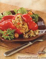 Фото к рецепту: Фаршированный красный перец