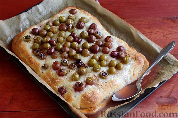 Фото приготовления рецепта: Тосканский пирог с виноградом - шаг №14
