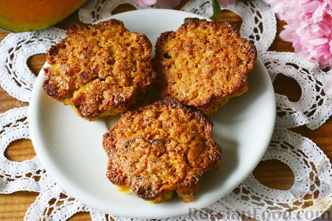 Фото приготовления рецепта: Кексы с тыквой, орехами и овсяными хлопьями - шаг №8