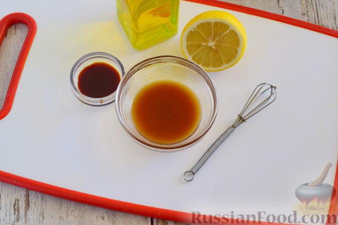 Фото приготовления рецепта: Овощной салат с мандаринами - шаг №9