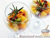 Фото к рецепту: Салат фруктовый с хурмой
