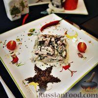 Фото к рецепту: Салат с языком и ветчиной