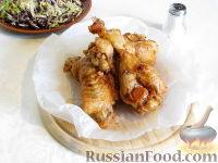 Фото к рецепту: Крылья индейки в карамельном соусе