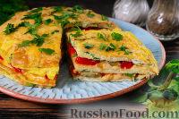 Фото к рецепту: Торт-омлет с овощами