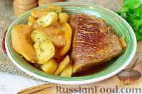 Фото к рецепту: Рагу из картофеля и айвы, с говядиной