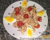 Фото к рецепту: Салат с фасолью и тунцом