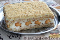"""Фото к рецепту: Торт без выпечки, из печенья """"Рыбки"""""""
