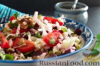 Фото к рецепту: Постный салат с зеленой чечевицей