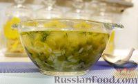 Фото к рецепту: Рисовый суп с горошком