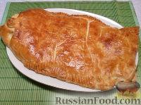 Фото к рецепту: Рыбный пирог из слоеного теста
