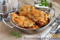 Фото к рецепту: Куриные котлеты с сыром и зеленью