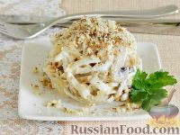 Фото к рецепту: Салат с кальмарами и шампиньонами