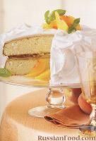 Фото к рецепту: Пирог с персиками и миндалем