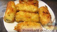 Фото к рецепту: Куриные рулетики с сыром
