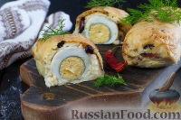 Фото к рецепту: Картофельный рулет с яйцом