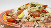 """Фото к рецепту: Салат """"Объедение"""" с куриным филе"""