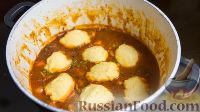 Фото к рецепту: Рагу из курицы и овощей, с кукурузными клёцками