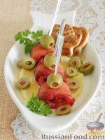 Фото к рецепту: Малосольная красная рыба, со свеклой и имбирем