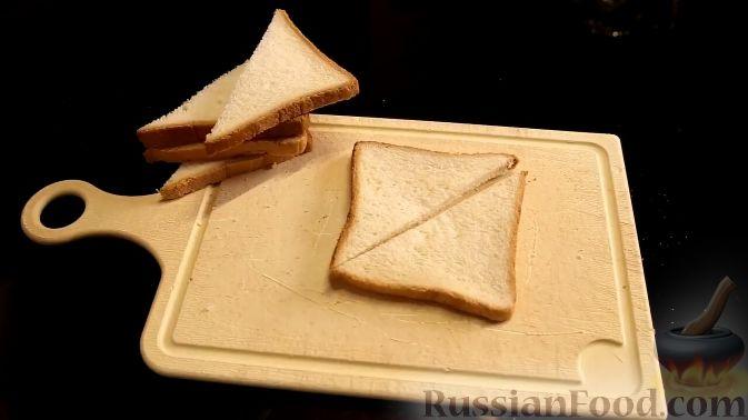 Фото приготовления рецепта: Французский тост с нектарином в винном сиропе - шаг №5