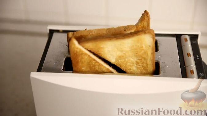 Фото приготовления рецепта: Французский тост с нектарином в винном сиропе - шаг №6