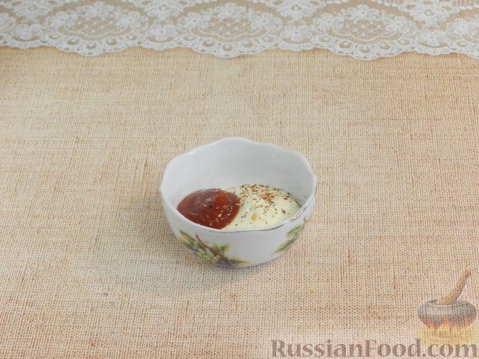 Фото приготовления рецепта: Салат с копченой курицей и яблоком - шаг №7