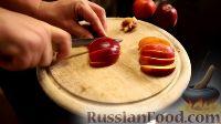 Фото приготовления рецепта: Французский тост с нектарином в винном сиропе - шаг №3