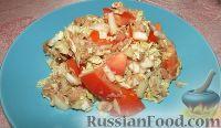 Фото к рецепту: Салат с тунцом, пекинской капустой и помидорами