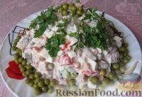 Фото к рецепту: Салат с ветчиной, яйцами и овощами