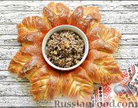 """Фото к рецепту: Дрожжевой пирог """"Рождественский венок"""""""