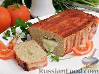 Фото к рецепту: Мясной рулет в беконе