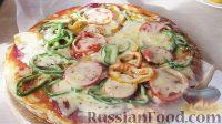 Фото к рецепту: Пицца на сковороде (на кефире)