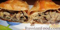 Фото к рецепту: Рулеты из лаваша с курицей, грибами и сыром