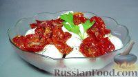 Фото к рецепту: Салат из полувяленых помидоров и моцареллы