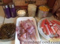 Фото приготовления рецепта: Салат с кальмарами и крабовыми палочками - шаг №1